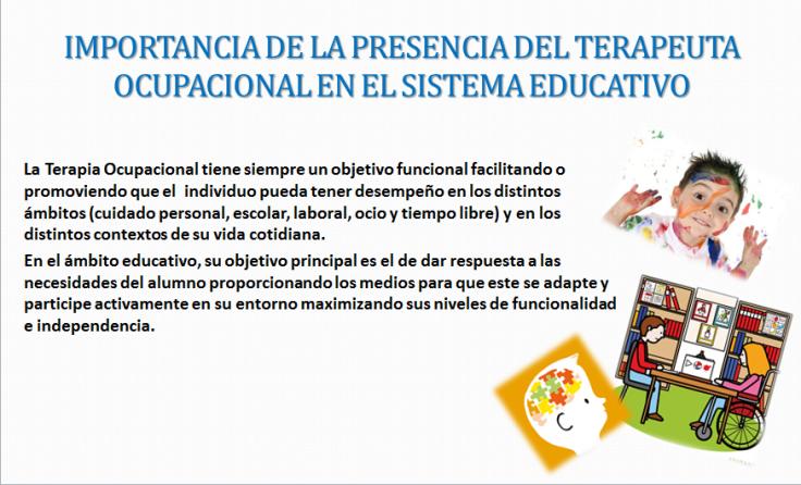 terapia ocupacional y sistema educaivo